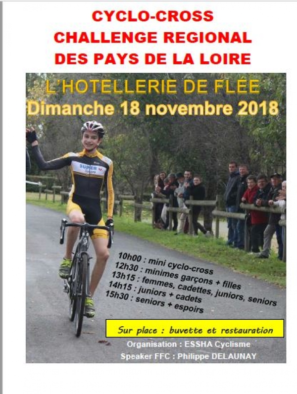 Cyclo-cross à l'Hotellerie de Flée.